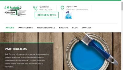 Site internet de SMP Concept