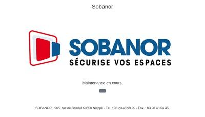 Site internet de Sobanor Clotures - Sobanor Industrie
