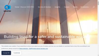 Site internet de Socotec International