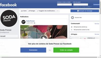 Site internet de Soda Presse