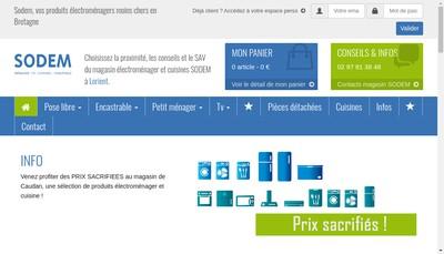 Site internet de Societe de Distribution d'Electromenager