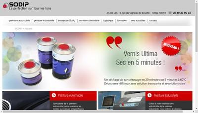 Site internet de Societe de Distribution de la Peinture