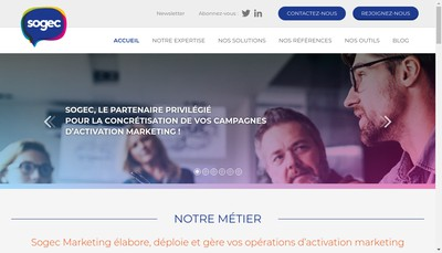 Site internet de Sogec Gestion