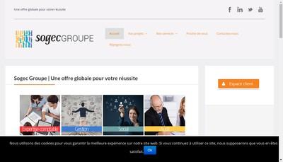 Site internet de Sogec Maine Normandie