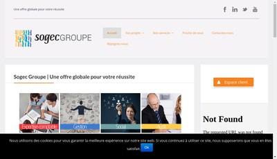 Site internet de Sogec Groupe