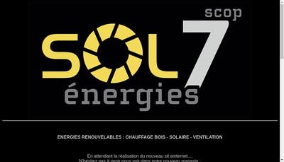 Site internet de Sol 7 Energies