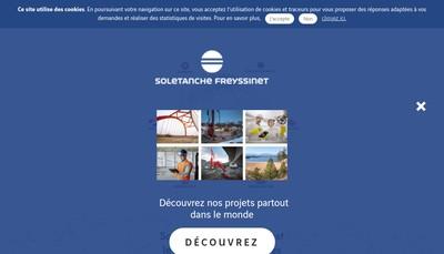 Site internet de Soletanche Freyssinet Services