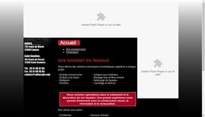 Site internet de Sol Facade