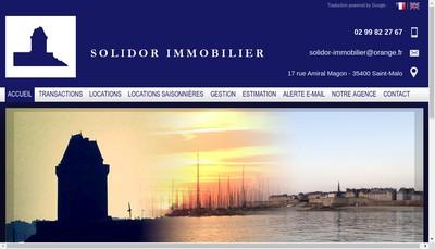 Site internet de Solidor Immo