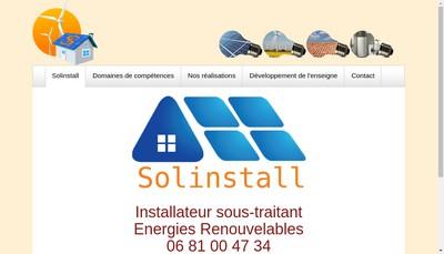 Site internet de Solinstall