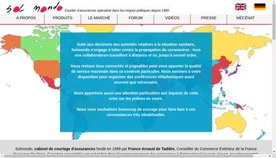 Site internet de Sol Mondo