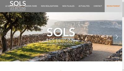 Site internet de Sols Midi Pyrenees