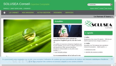 Site internet de Solusea Social