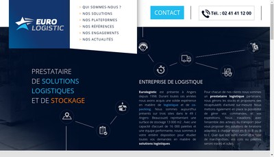 Site internet de Euro Logistic Angers