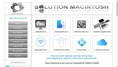 Site internet de Solution Informatik
