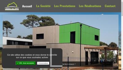 Site internet de Solutions Bois Habitat