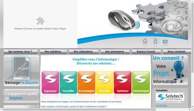 Site internet de Solytech