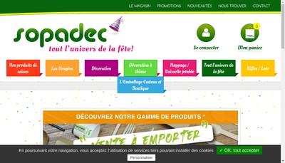 Site internet de Sopadec