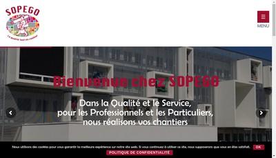 Site internet de Sopego