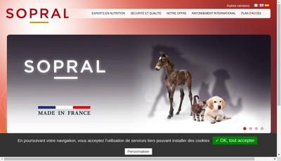 Site internet de Sopral