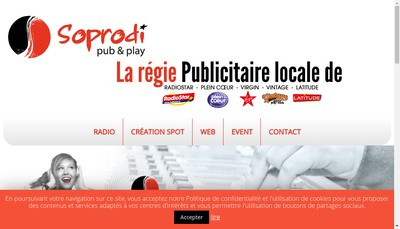 Site internet de Societe Soprodi Radios Regions