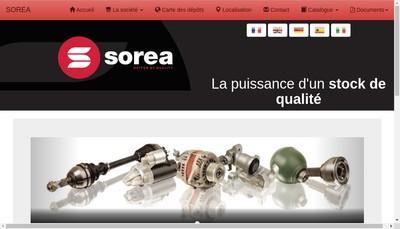 Site internet de Sorea