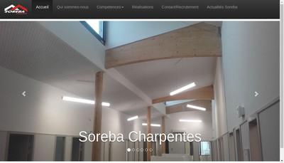 Site internet de Soreba Charpentes