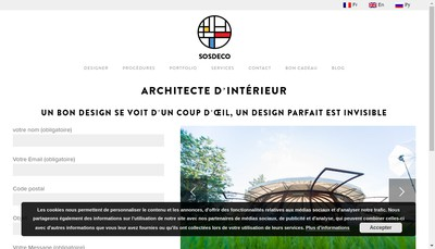 Site internet de Sos Deco