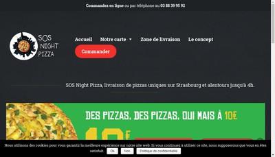 Site internet de SOS Night Pizza