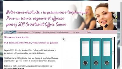 Site internet de Sos Secretariat Office Online