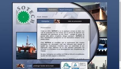 Site internet de Sotech