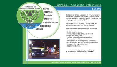 Site internet de SARL Sowax