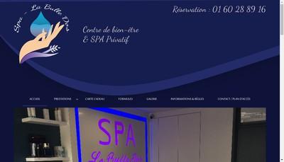 Site internet de Spa la Bulle Dos