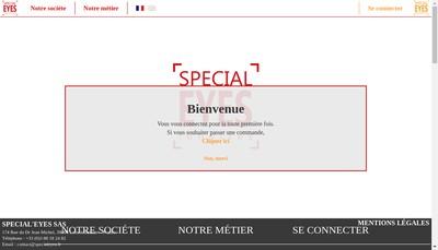 Site internet de Special'Eyes