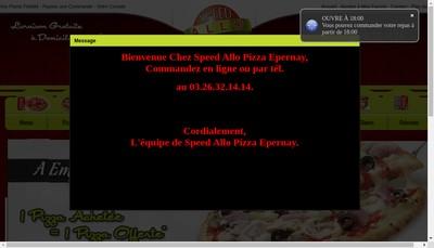 Site internet de Speed Allo Pizza