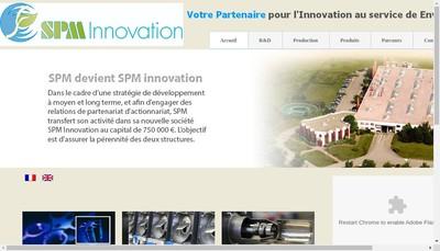 Site internet de Spm Innovation