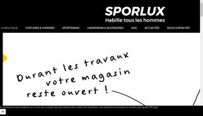 Site internet de Sporlux