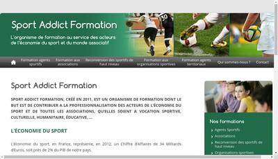 Site internet de Sport Addict Formation