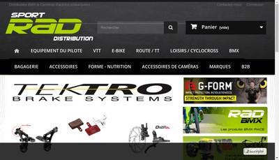 Site internet de Sport Rad Distribution