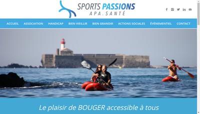 Site internet de Sports Passions