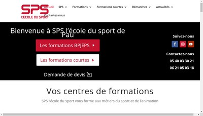 Site internet de Formation Sport
