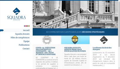 Site internet de Squadra Avocats