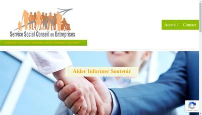 Site internet de Service Social Conseil en Entreprises
