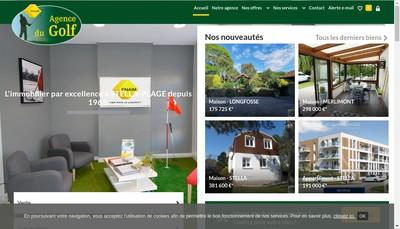 Site internet de Agence du Golf