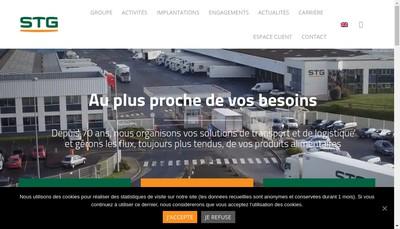 Site internet de Gautier Logistique Nord