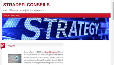 Site internet de Stradefi Conseils