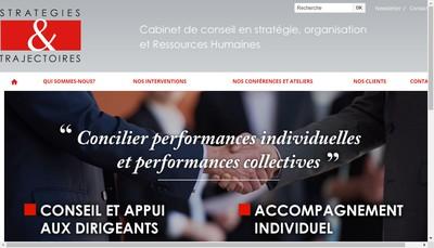 Site internet de Strategies & Trajectoires