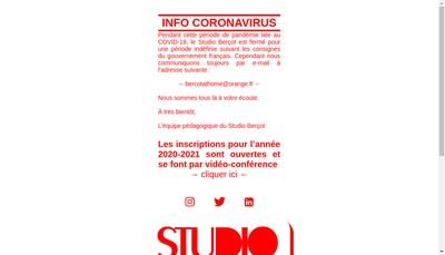 Site internet de Studio Bercot