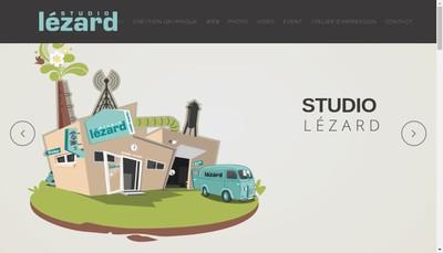 Site internet de Studio Lezard Graphique