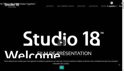 Site internet de Studio 18